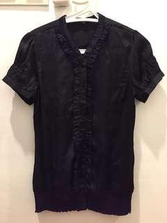 Laura Ashley black blouse
