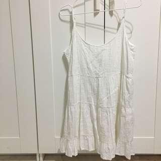 Brandy Melville Eyelet Jada Dress in White