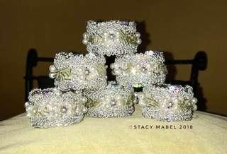 Classy Table Napkin Ring Holders  Set of 6