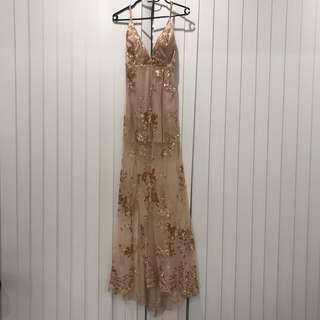 Sequin slit dress