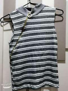 Grey stripe top