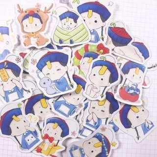 Chinese Zombie Cutie Stickers