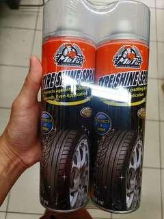 Tire shine spray