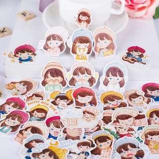 Cutie Lovely Girl Sticker