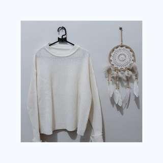 Broken White Knit