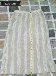 Stripes office skirt.