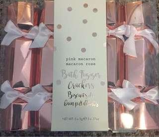 Pink Macaron Bath Fizzer crackers
