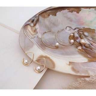 🚚 韓國設計珍珠耳環