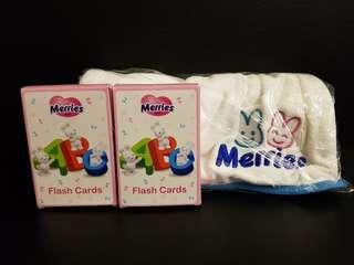 Merries Flash Card And Blanket/Towel Set