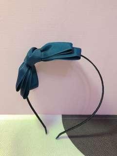 🚚 藍色蝴蝶結髮箍