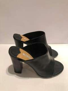 Tony Bianco Black Leather Mules