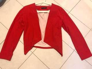 Dorothy Perkins bright coral blazer . Wore only once . Excellent condition like new .