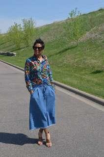 Zara denim frayed culottes