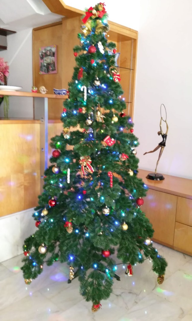 7ft Xmas Tree With Decorations Furniture Others On Carousell