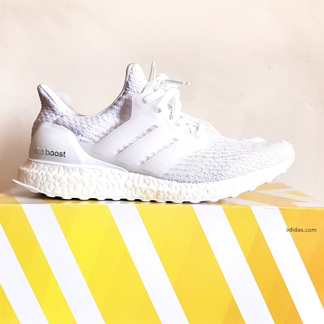 the latest a9e80 3e1d0 Adidas UltraBOOST 3.0 (Triple White) Size UK8