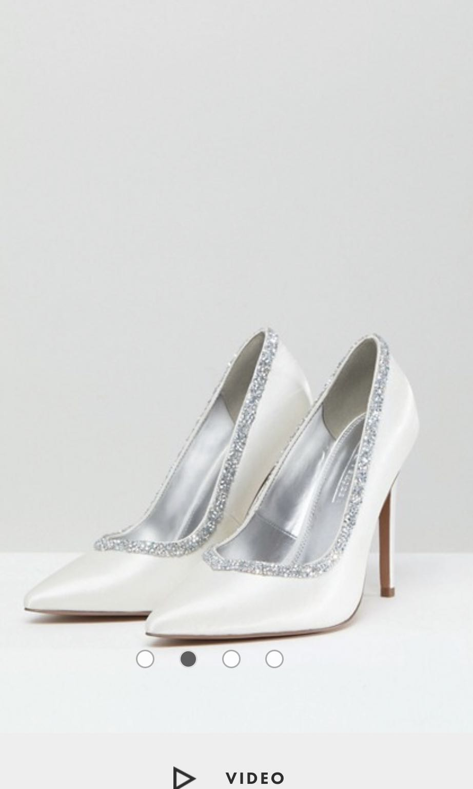 0f2cc9b8fc6 ASOS BRIDAL COURT HEELS WIDE FIT IN IVORY