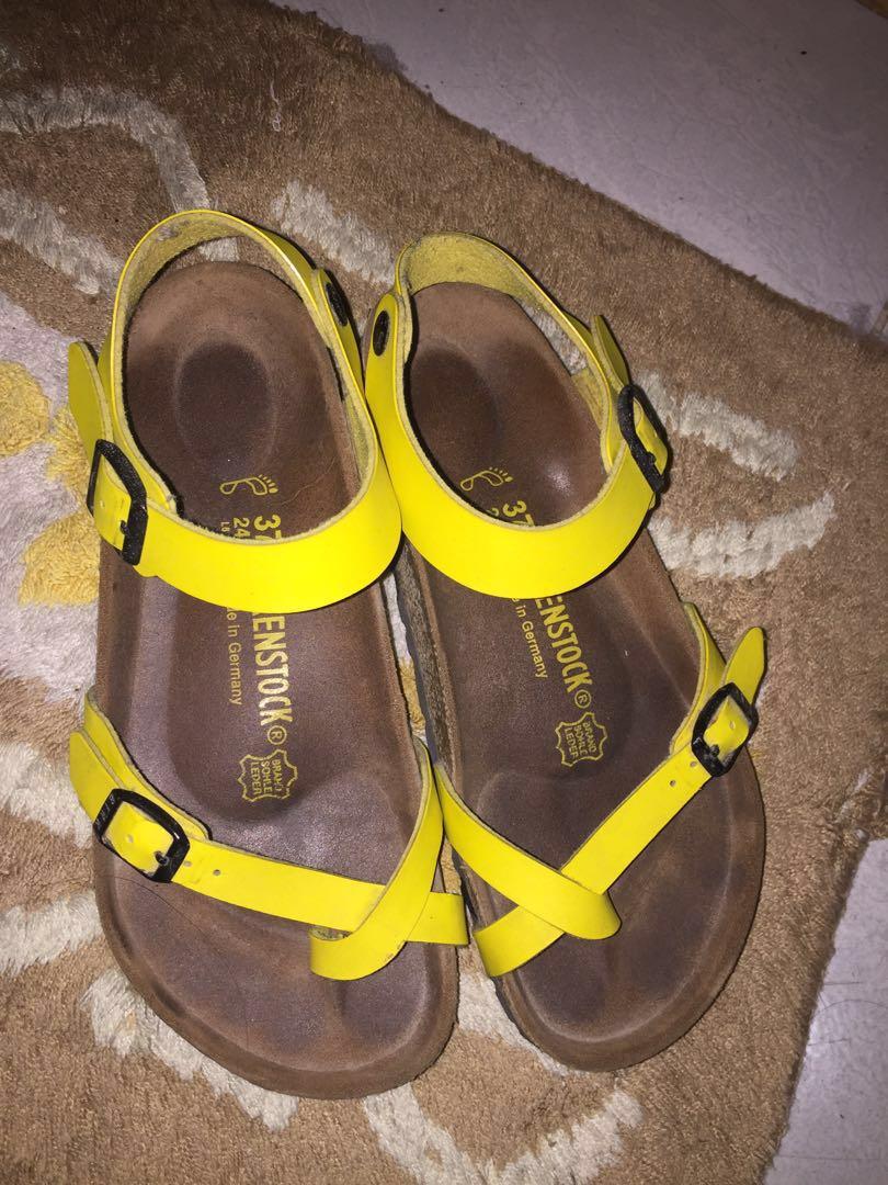 315638d1bcb3 Authentic birkenstock rio birko flor lightweight sandals