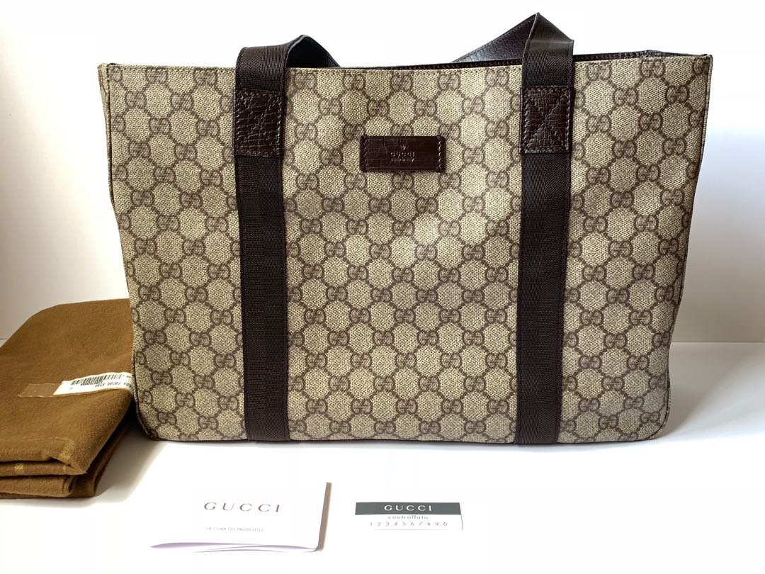 fd6bc4cbafdf Authentic Gucci Monogram PVC Tote Bag Brand New, Luxury, Bags ...
