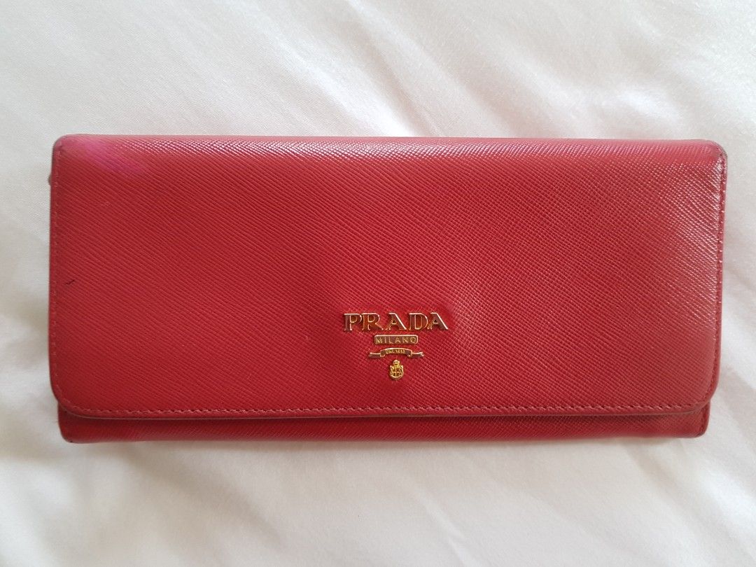 2881a3c66477ff Authentic Prada Saffiano Long Wallet, Luxury, Bags & Wallets ...