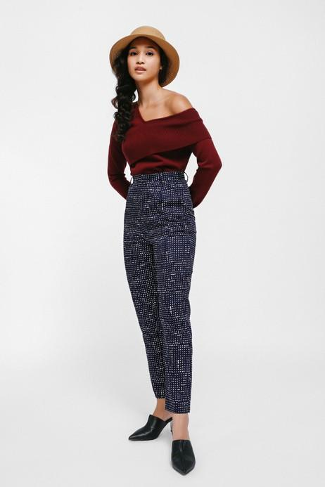 BNWT Love Bonito Taltraz Printed High Waist Pants  (size m)
