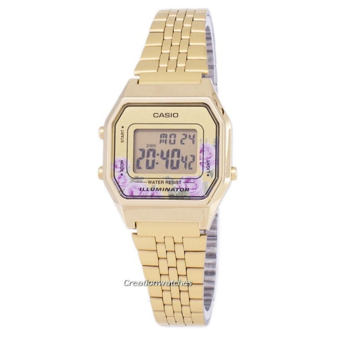 d743950bb Casio Vintage Illuminator Quartz Digital LA680WGA-4C Women's Watch ...