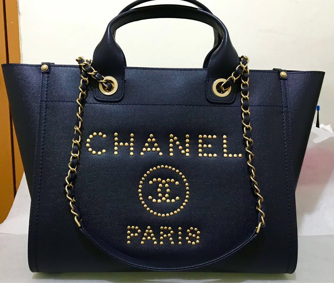 01b6fc02734e Chanel Deauville Tote in Caviar Leather