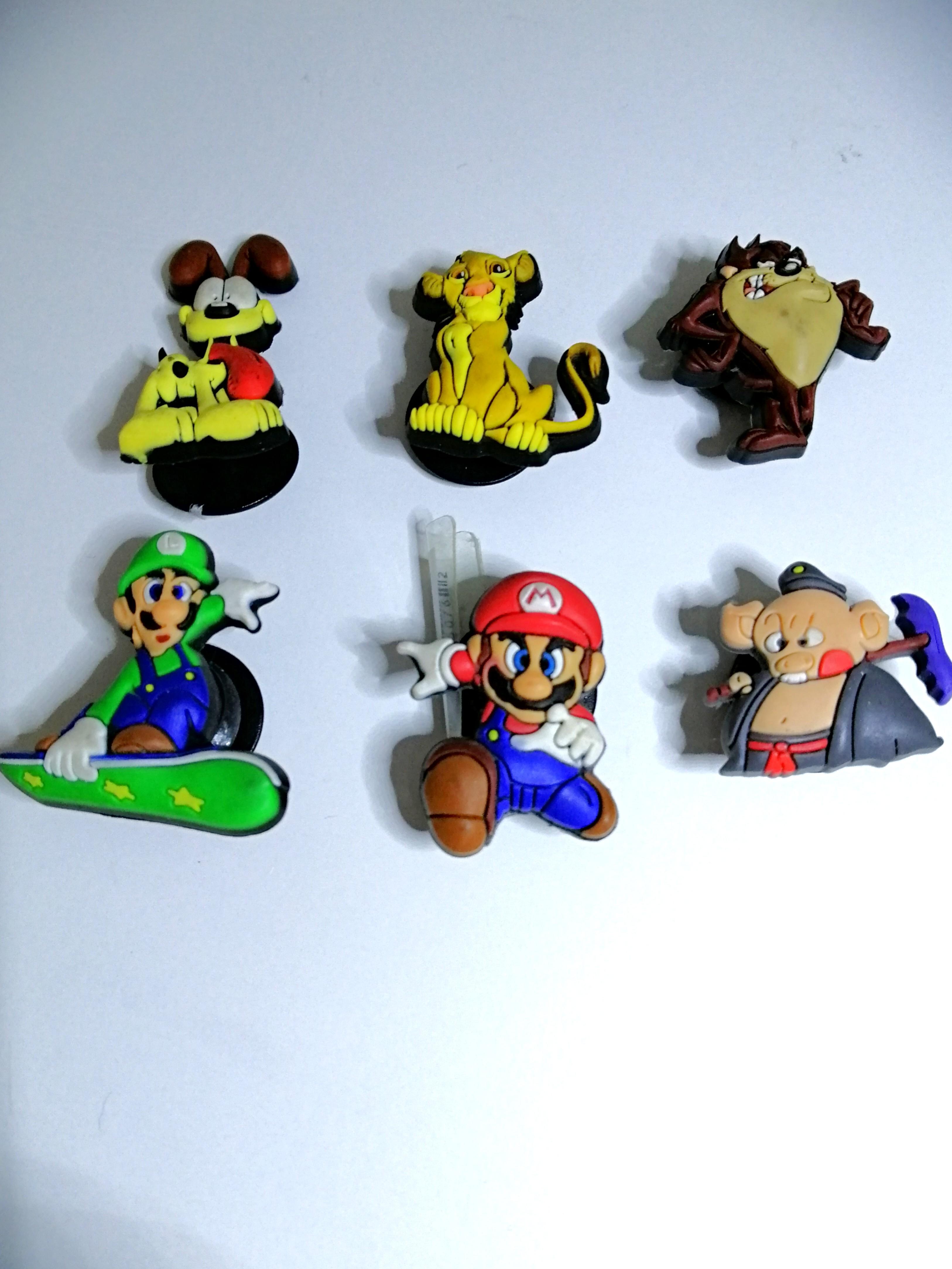 Crocs Jigbits Super Mario Luigi Oddy Tasmanian Devil Lion King
