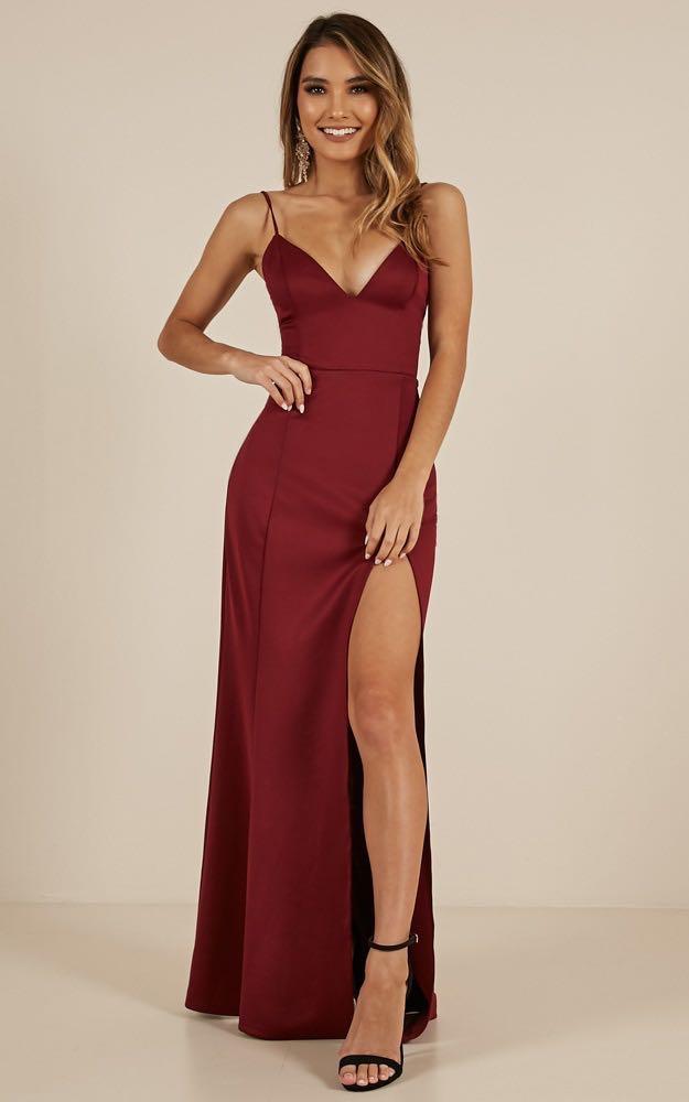 3bc70c65a161e Dare To Dream Maxi Dress In Wine (prom/night dress), Women's Fashion ...