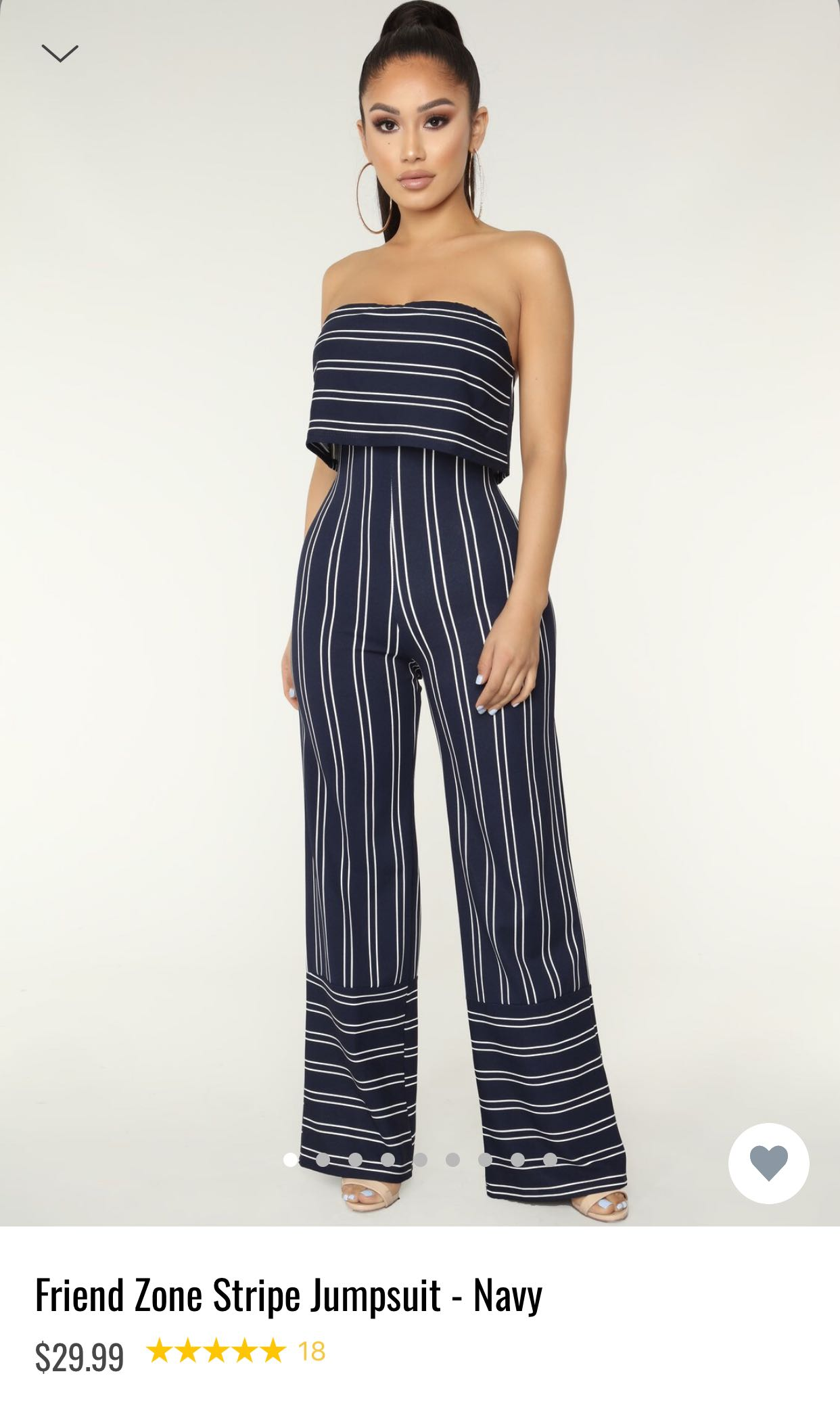 c15eee788e6 Fashionnova brand new jumpsuit in navy stripe