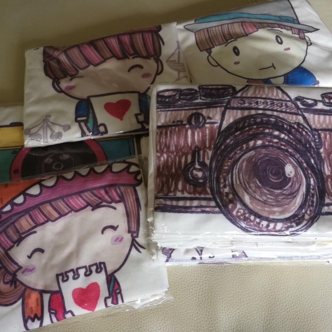 Girls Cute Heart T-Shirt Hand Drawn Very Comfy Light Organic Cotton Adorable