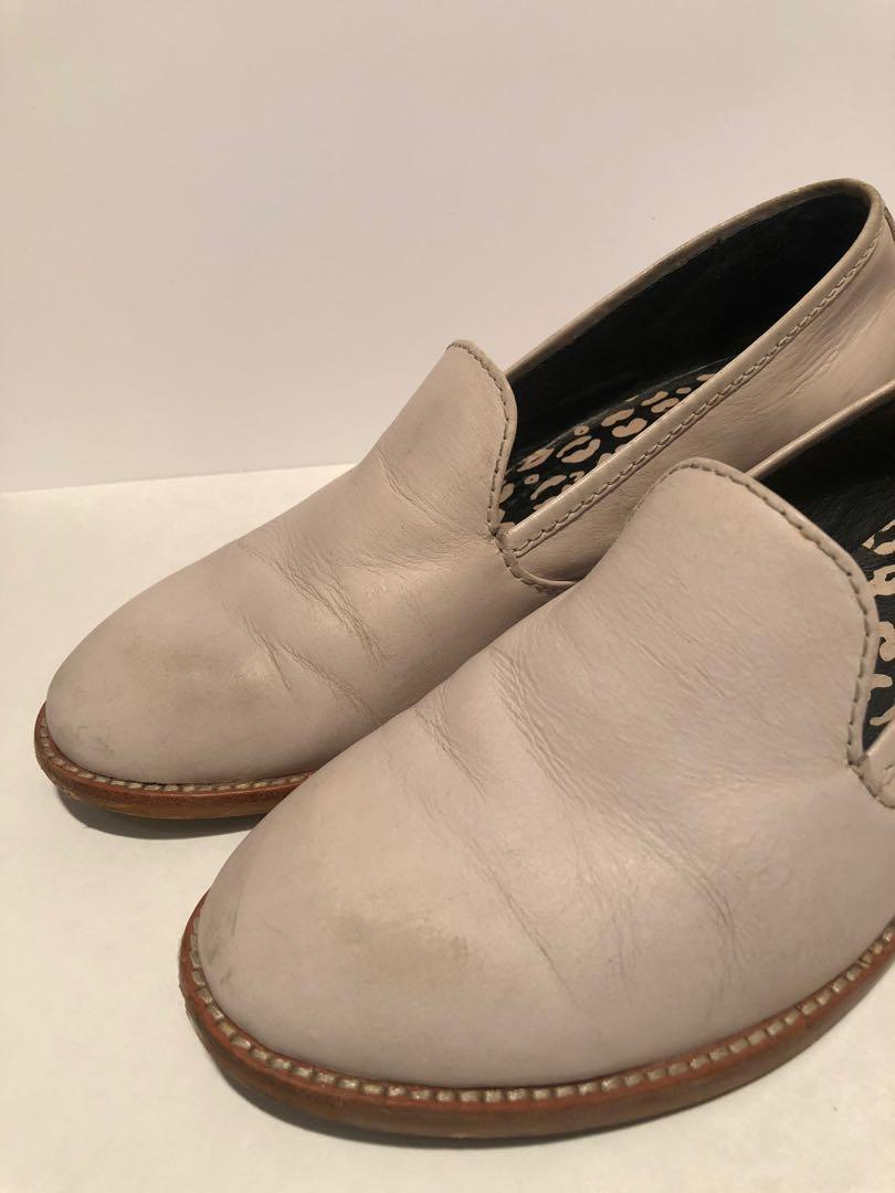 Gorman Cream Leather Loafers