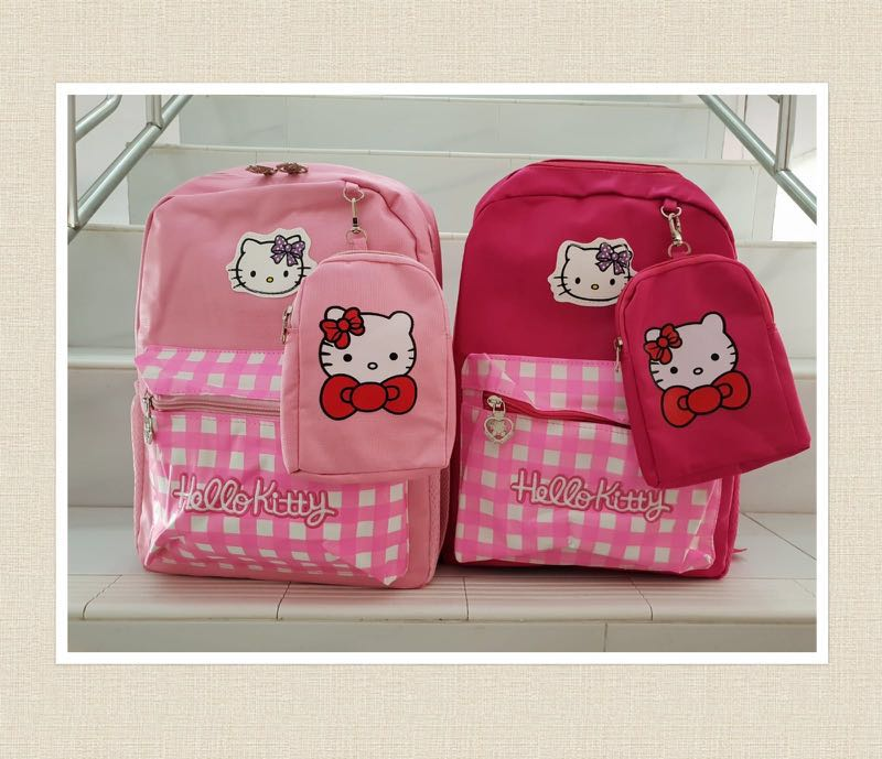 c6025b8d5e Hello Kitty Backpack School Bags Girls