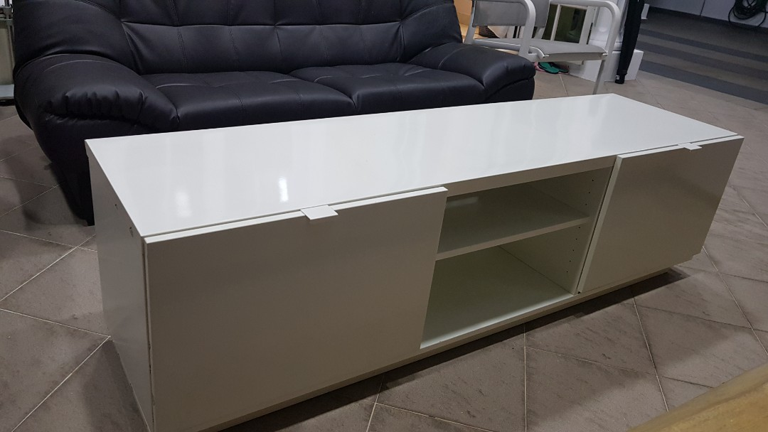 Ikea Tv Bench Byas Furniture Shelves Drawers On Carousell