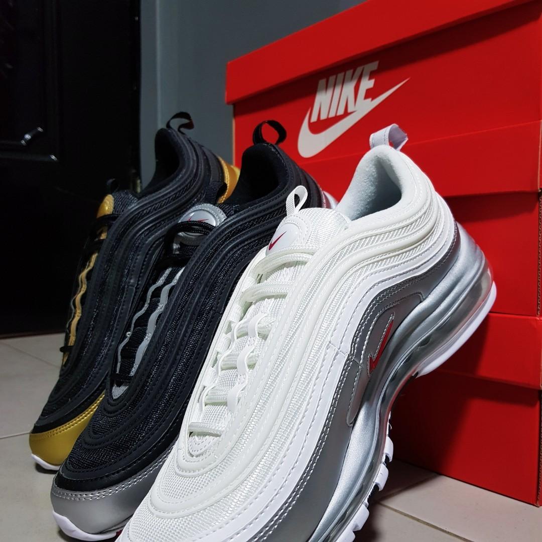 premium selection 39e24 9a01b INSTOCK  Air Max 97 QS Metallic Pack, Men s Fashion, Footwear ...