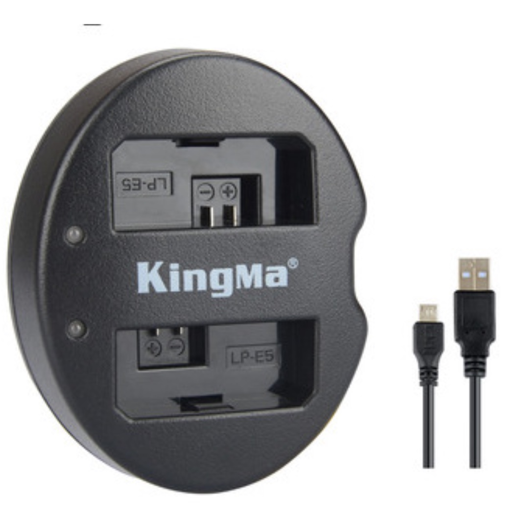 Consumer Electronics Chargers Lp-e5 Lcd Dual Port Usb Battery Charger For Canon Eos 1000d 500d 450d Kiss