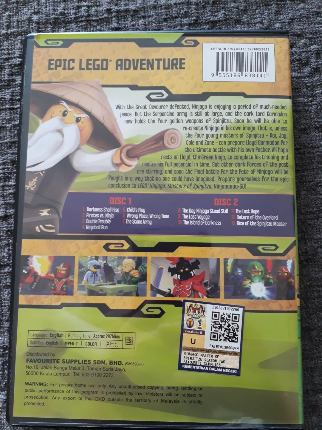 Lego Ninjago Season 2 DVD, Music & Media, CDs, DVDs & Other