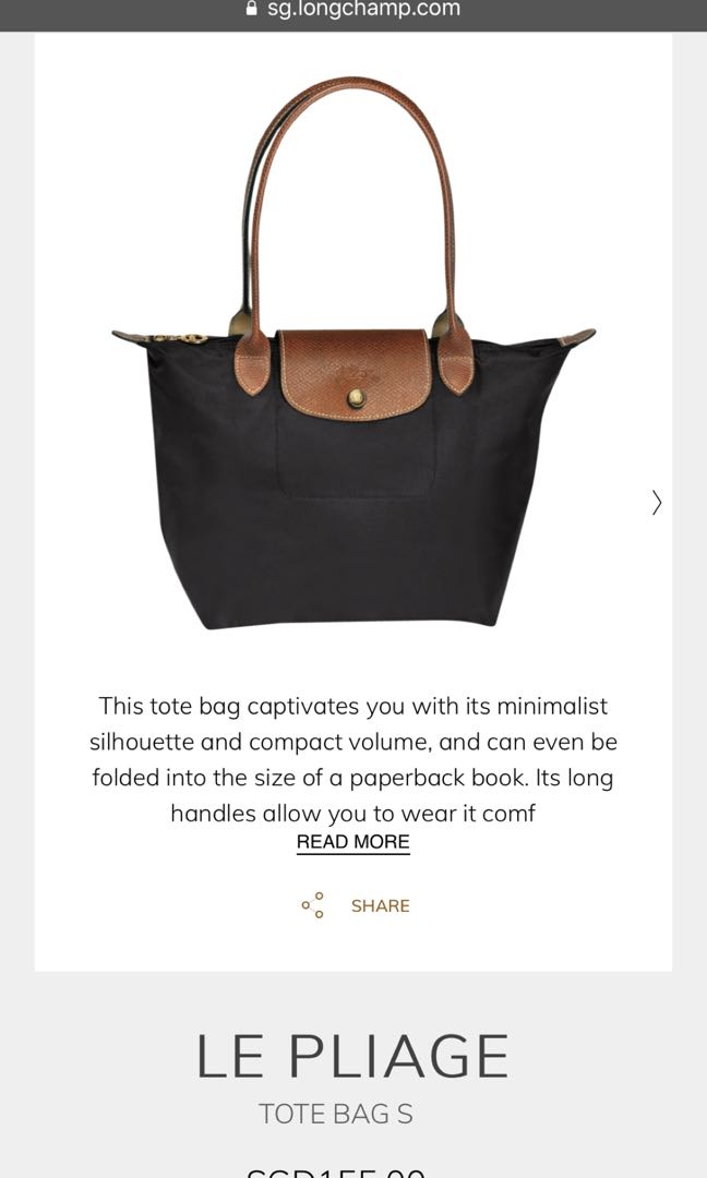6c58fe36c14 Longchamp Gun Metal Le Pliage Tote Bag S, Women s Fashion, Bags   Wallets,  Handbags on Carousell