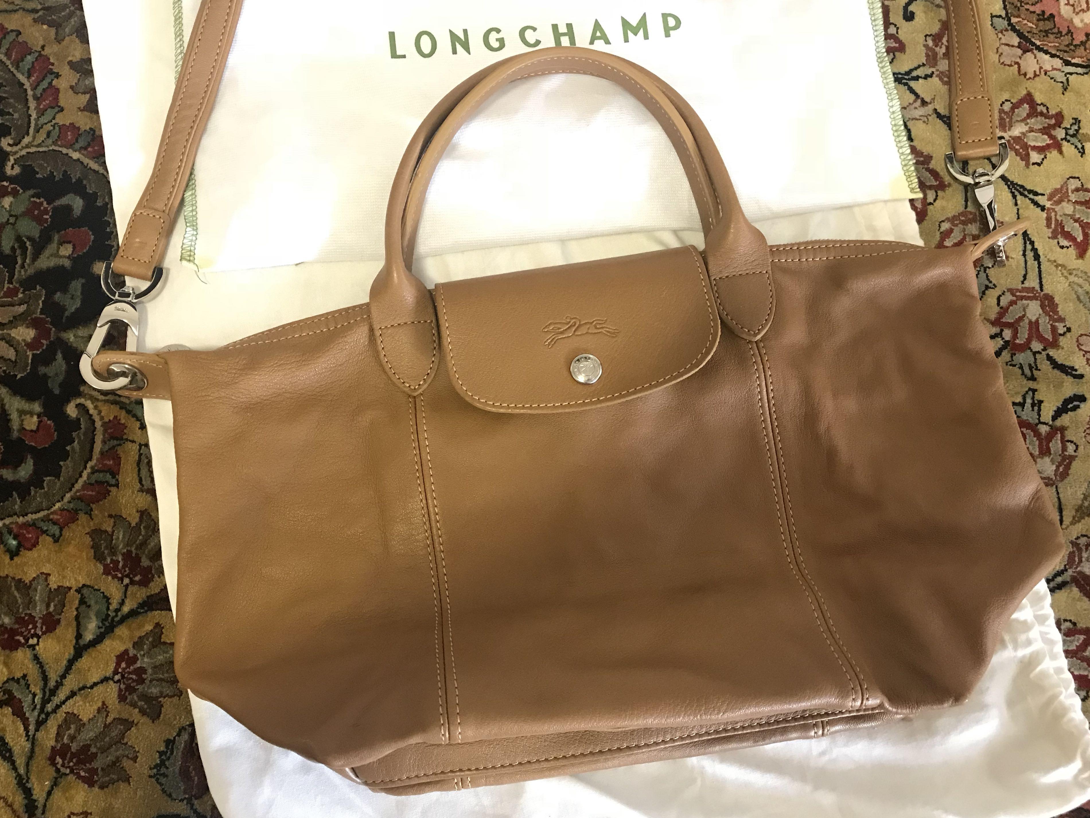 c26ed6c2e8af Longchamp Le Pliage Cuir Small Bag
