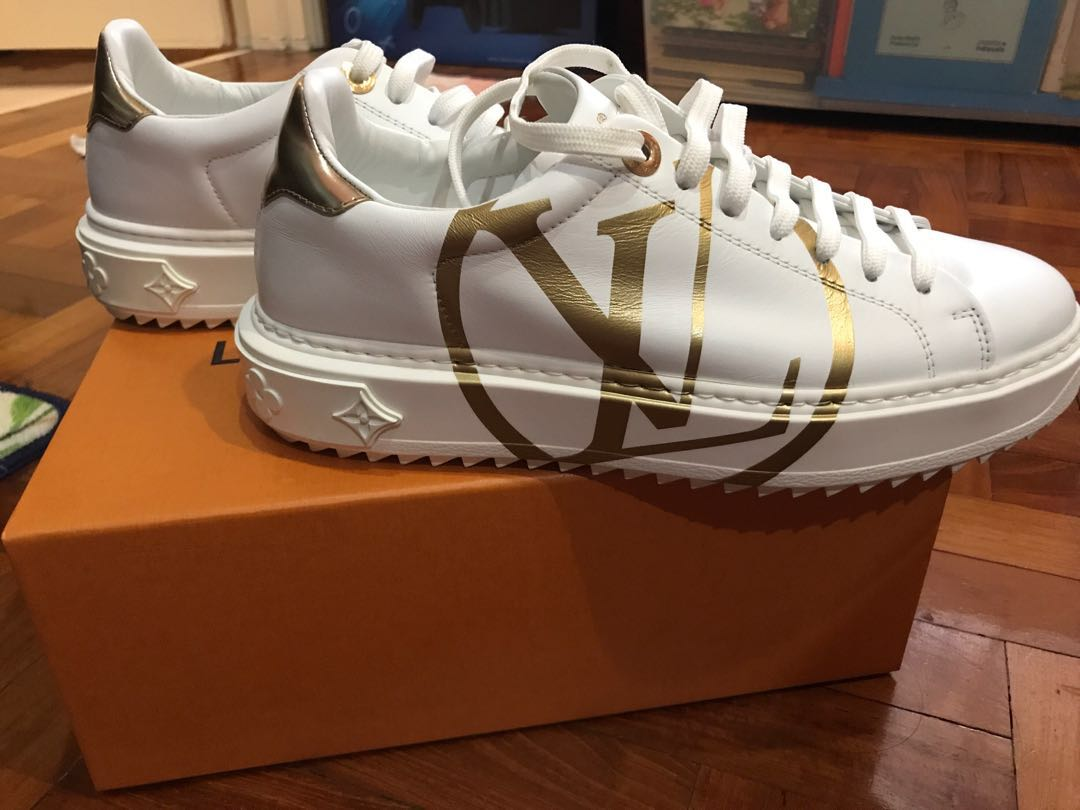d8161f98eed Louis Vuitton Time Out Sneakers, Luxury, Shoes on Carousell