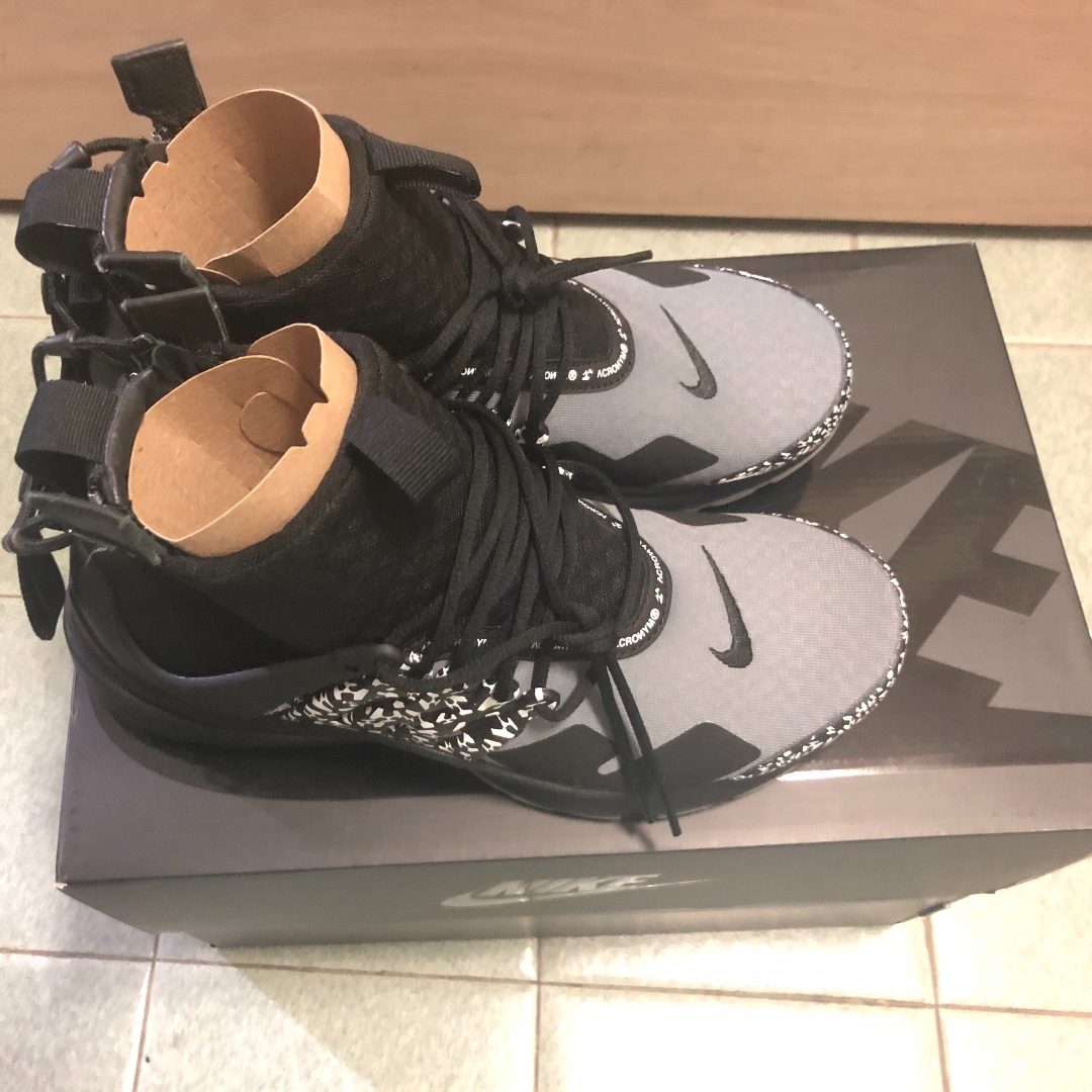 02b6d2200e65 LOWEST PRICE IN TOWN - Acronym x Nike Air Presto cool grey uk 6 ...