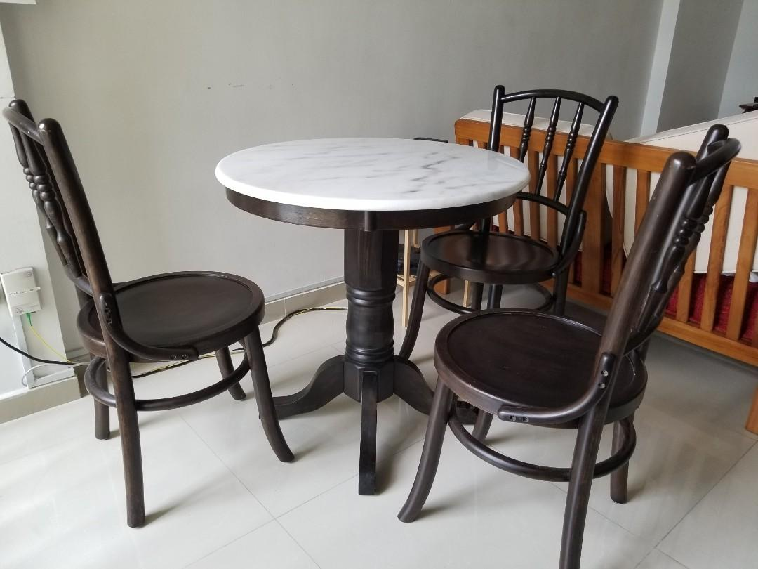 Marble Kopitiam Table And Chair Good Condition Furniture Tables Chairs On Carousell