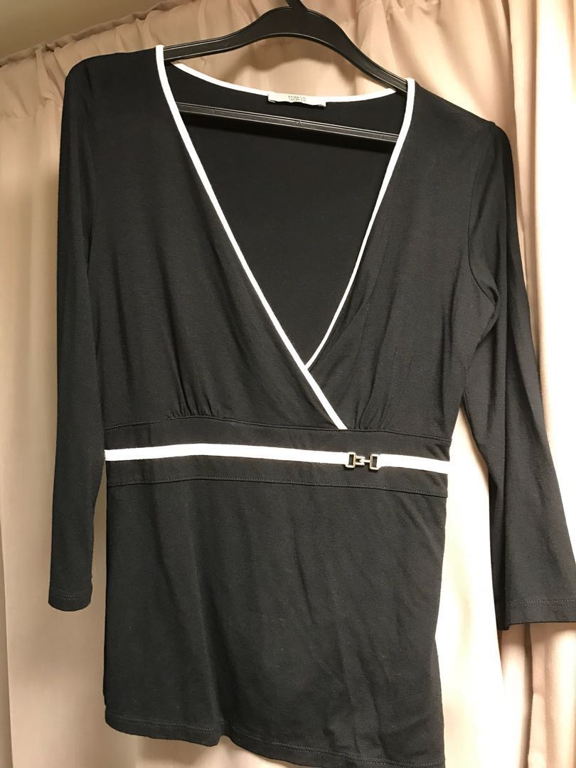 07d8c9d338851a Marks & Spencer Ladies Blouse (Black), Women's Fashion, Clothes, Tops on  Carousell