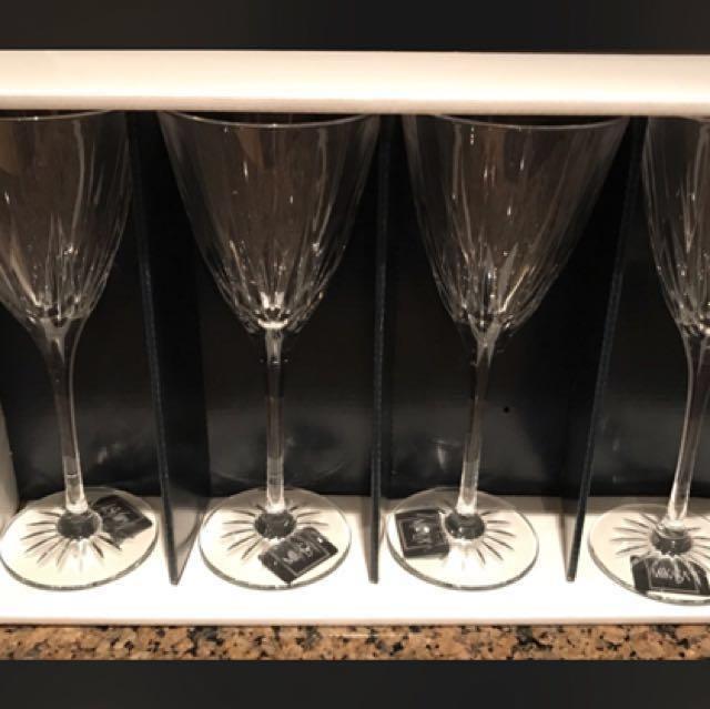 Mikasa brand new 4pc glassware