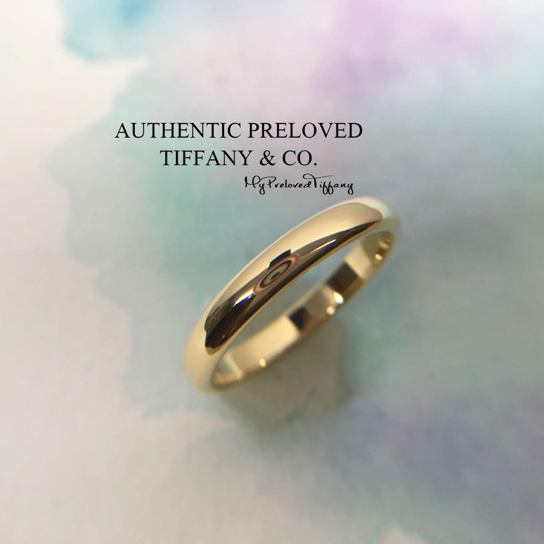 41467bd451b2c Mint Tiffany & Co Gold YG Lucida Classic Wedding Band Ring 18k 3mm ...