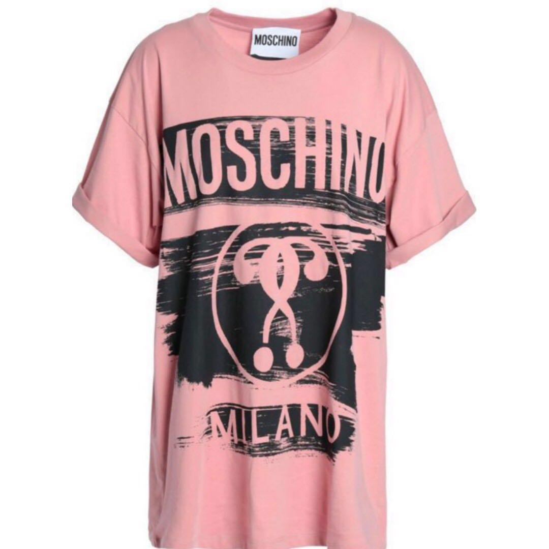 2116d7507c81 MOSCHINO PINK OVERSIZED TSHIRT, Women's Fashion, Clothes, Tops on ...
