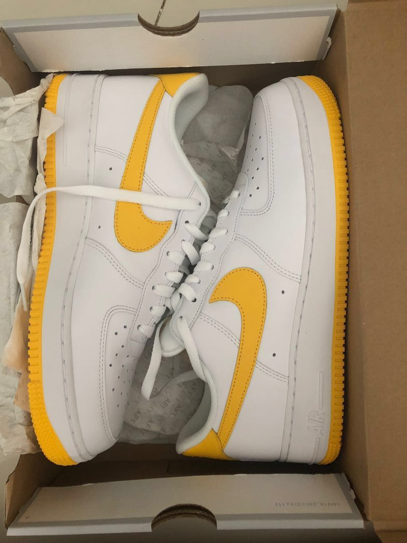 quality design 898d0 ee524 Nike Air Force 1 varsity maize, Men's Fashion, Footwear, Sneakers on ...