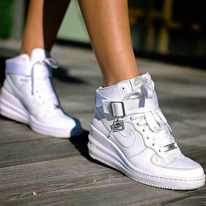 sportswear sky high wedge heels