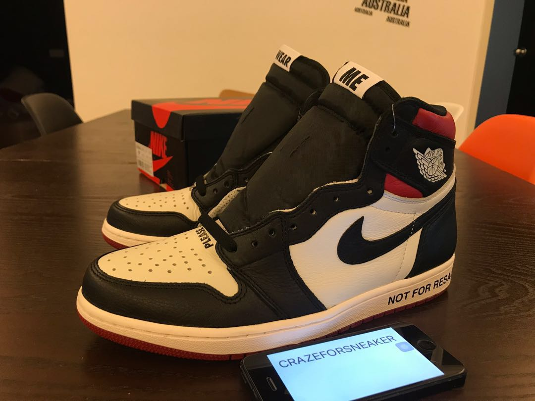 "new product 7307b fe4c4 Nike Air Jordan 1 Retro High OG NRG ""Not For Resale"" US9.5, Men s ..."