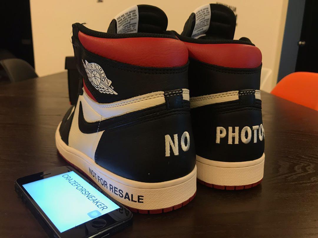 """online store b371d 4be95 Nike Air Jordan 1 Retro High OG NRG """"Not For Resale"""" US9.5, Men s Fashion,  Footwear, Sneakers on Carousell"""