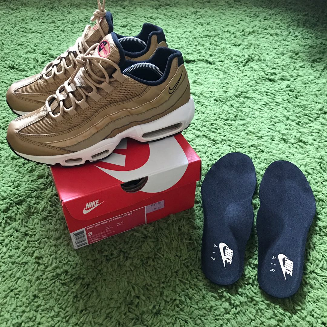db7fb2f58d Nike Air Max 95 Premium QS gold, Men's Fashion, Footwear, Sneakers ...